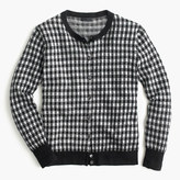 J.Crew Italian featherweight cashmere cardigan sweater in gingham