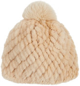 Barneys New York Women's Mink & Fox Fur Beanie-BEIGE, IVORY