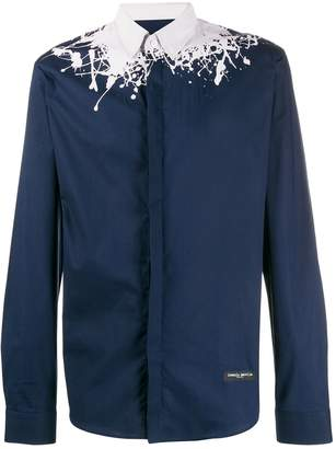 Frankie Morello splatter print shirt
