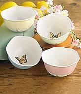 Lenox Butterfly Meadow Porcelain Dessert Bowls, Set of 4