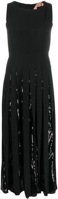No.21 Sequin Pleated Midi Dress