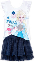 Disney Disney's® Frozen 2-Pc. Graphic-Print Top & Skirt Set, Toddler & Little Girls (2T-6X)