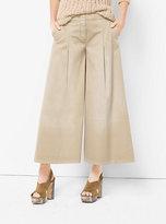 Michael Kors Pleated Cotton Culottes