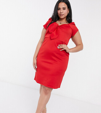 Simply Be midi dress in red