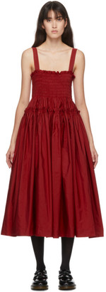 Molly Goddard Red Kayla Dress