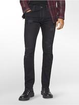 Calvin Klein Slim Leg Ripped Black Jeans