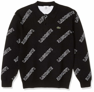 Lacoste Men's Long Sleeve LVE Printed Polo Inspired Sweater