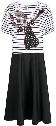 Antonio Marras graphic print T-shirt dress