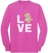 TeeStars Love Dinosaur T-Rex Raptor Cute Gift Idea Smiling Dino Long sleeve kids T-Shirt