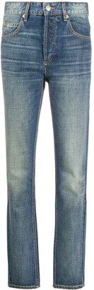 Etoile Isabel Marant High-Waisted Straight Leg Jeans