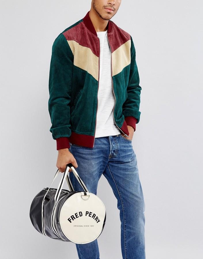 Fred Perry Barrel Bag Black/Cream
