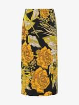 Dries Van Noten Floral Tapestry Pencil Skirt