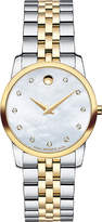 Movado 0606613 musuem classic mother-of-pearl and stainless steel watch