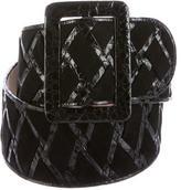 Nancy Gonzalez Crocodile-Trimmed Waist Belt