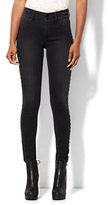 New York & Co. Soho Jeans - Studded High-Waist Superstretch Legging - Edgy Black Wash