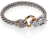 John Hardy Naga 18K Yellow Gold & Sterling Silver Dragon Bracelet