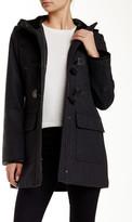 Cole Haan Hooded Duffle Wool Blend Coat