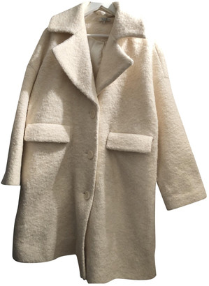 Ganni White Wool Coats