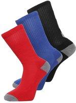 Hummel Nostalgia 3 Pack Sports Socks Black/surf The Web/scarlet