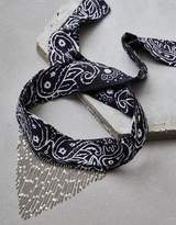American Eagle Outfitters AE Black Bandana And Chains Necklace