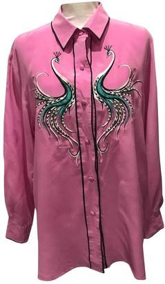 Bob Mackie Purple Silk Top for Women Vintage