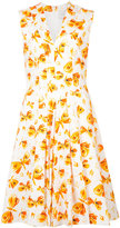 Carolina Herrera butterfly skater dress - women - Cotton/Spandex/Elastane - 2