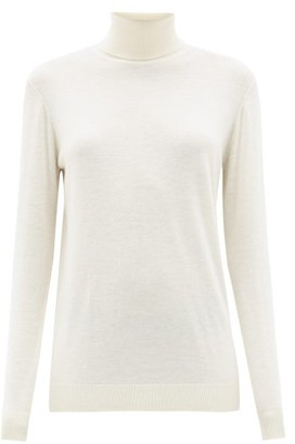 Raey Roll-neck Fine-knit Cashmere Sweater - Womens - Ivory