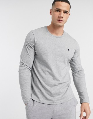 Polo Ralph Lauren long sleeve soft cotton top in grey heather
