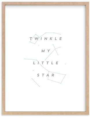 Pottery Barn Kids Minted Twinkle Little Star by AV Design Factory