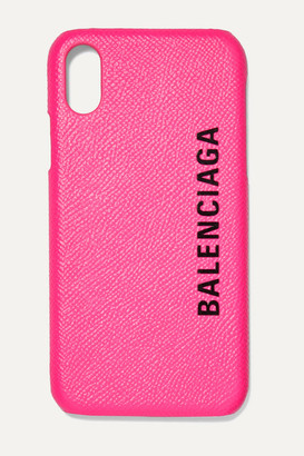 Balenciaga Printed Textured-leather Iphone X Case - Pink