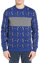 Lacoste Men's L!ve Net Graphic Sweatshirt