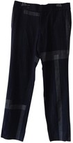 Comme des Garcons Navy Wool Trousers