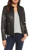 Catherine Malandrino Women's Chevron Seam Leather Jacket