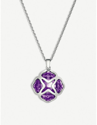 Chopard IMPERIALE white-gold and amethyst long-length pendant necklace