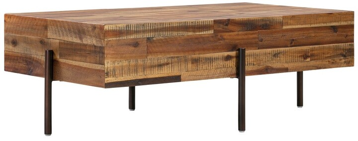 """Thumbnail for your product : TOV Furniture Bushwick Wooden Coffee Table - 48""""W x 27""""D x 16""""H"""