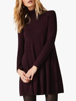 Phase Eight Melody Swing Knitted Dress, Burgundy