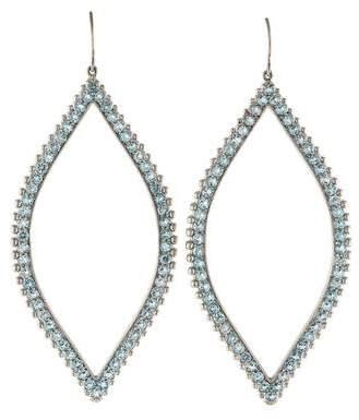 Jamie Wolf 18K Aquamarine Open Marquis Earrings