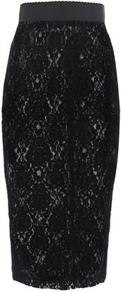 Dolce & Gabbana Leavers Lace Midi Pencil Skirt