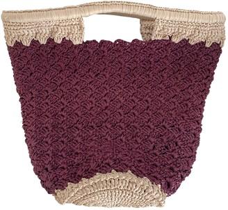 Carrie Forbes Burgundy Wicker Handbags
