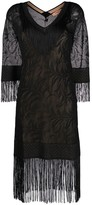 Twin-Set Twin Set lace stitch fringed dress