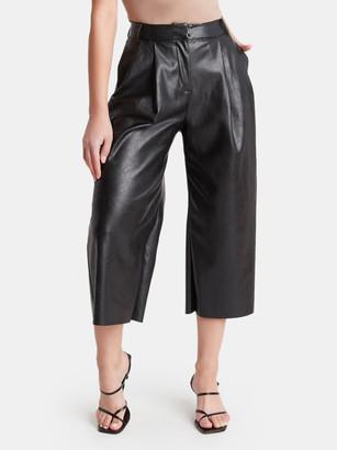 Choosy Noho Wide Leg Vegan Leather Pants
