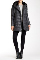 Vince Camuto Faux Fur Trimmed Asymmetrical Down Coat