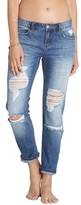 Billabong Women's Hey Boy Ripped Girlfriend Jeans