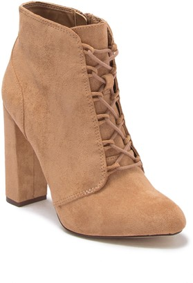 Call it SPRING Kat Lace Up Block Heel Bootie