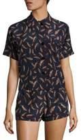 Araks Shelby Printed Silk Charmeuse Pajama Top