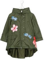 Moncler floral print jacket - kids - Polyamide/Polyamide-8 - 6 yrs