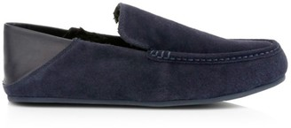 Vince Gino Shearling Lined Suede & Leather Loafer Slippers