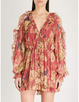Zimmermann Iris floral-print silk-georgette playsuit