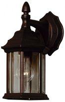 Kenroy Home Custom Fit 1-Light Wall Lantern in Black