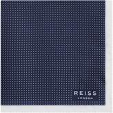 Reiss Reiss Nou - Silk Dotted Pocket Square In Navy